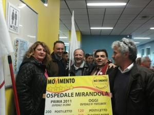 Maria Teresa Taroni, Massimo Bonora (candidato Soliera), Giuseppe Ballotta (San Prospero), Nunzio Tinchelli (candidato a Mirandola) e Benvenuto Zeno Razzaboni