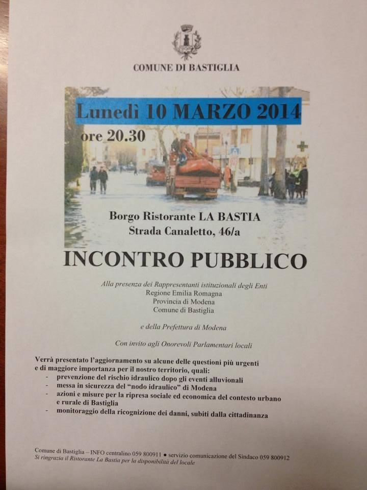 lunedì 10 marzo incontro pubblico