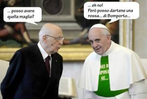 """""""Faremo togliere al Papa la maglietta di Camposanto  e mettere la nostra!"""", promettono da Finale"""